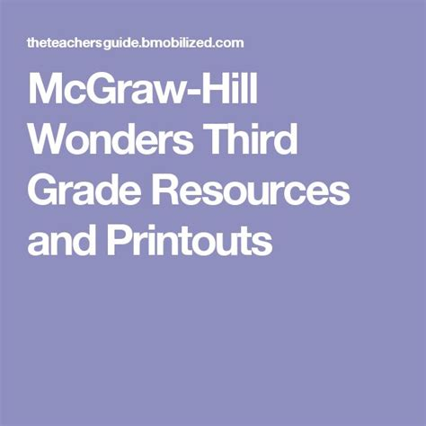 mcgraw hill wonders second grade resources and printouts 17 best ideas about mcgraw hill wonders on