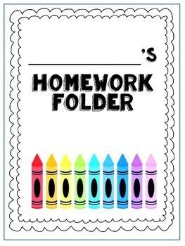 print and go homework folder cover page and homework helper i print a for each student