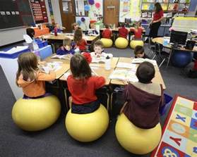 Exercise Chairs For Classroom Lake Uses Exercise Balls To Students