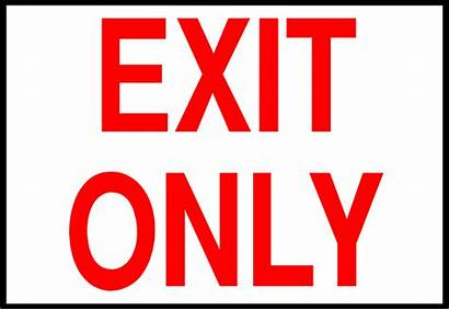Exit Printable Signs Emergency Clipart Important Metal