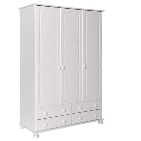 White 4 Door Wardrobe by Copenhagen 3 Door 4 Drawer Wardrobe White Fads