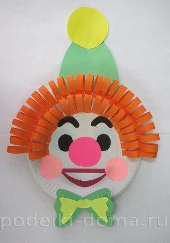 clown aus pappteller basteln dekoking diy bastelideen