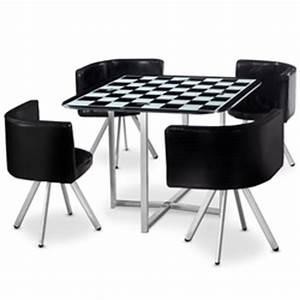 Table Avec Chaise Encastrable : table avec chaises encastrables le salon en ligne des professionnels et particuliers ~ Teatrodelosmanantiales.com Idées de Décoration