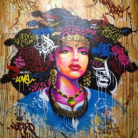 wall art african american black abstract portrait art