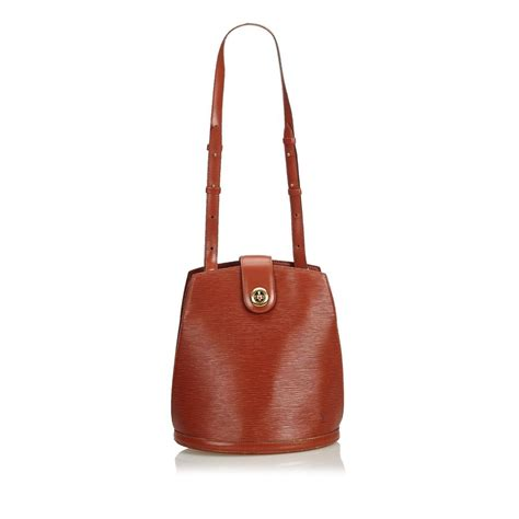 Louis Vuitton Cowhide Leather Bag by Louis Vuitton Cluny Epi Brown Cowhide Leather