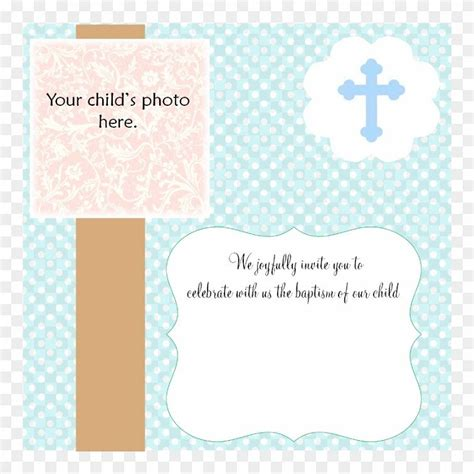 Baptism Invitation Template Blank Party Invitation Cards