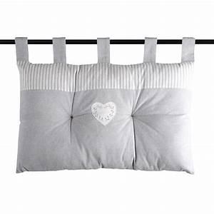 Coussin Tete De Lit Gifi : t te de lit avec cusson c ur gris homemaison ~ Dailycaller-alerts.com Idées de Décoration