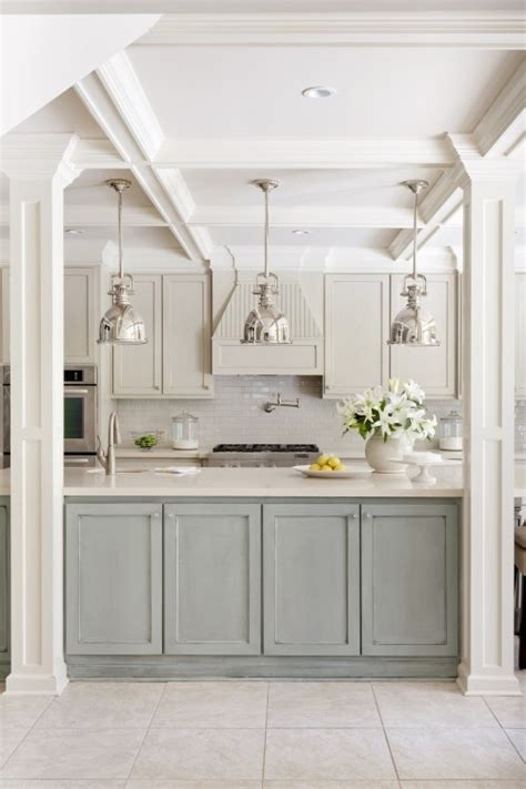 kitchen island with cupboards two tone kitchen cabinet ideas duckling house