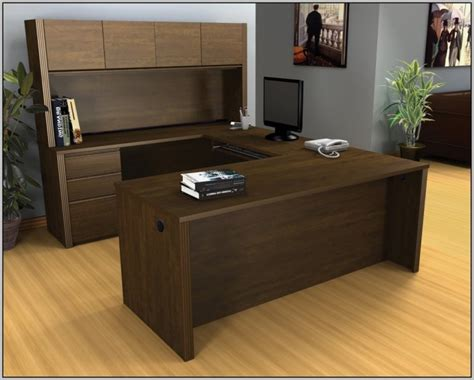 U Shaped Desk With Hutch By Office Source  Desk Home