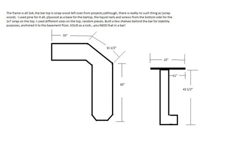 Bar Dimensions by Building My Basement Bar Woodworking Talk Woodworkers