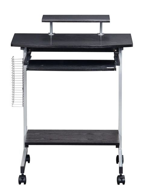 techni mobili compact computer cart with storage wood
