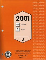 service manuals schematics 2001 chevrolet cavalier electronic toll collection 2001 chevy cavalier and pontiac sunfire factory service manual 2 volume set