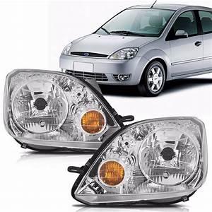 Farol Ford Fiesta 2003 2004 2005 2006 2007 Hatch Sedan