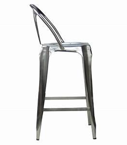 Bar Style Industriel : tabouret de bar avec dossier en acier style industriel ~ Teatrodelosmanantiales.com Idées de Décoration
