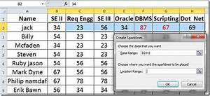 Clustered Bar Chart Excel 2010 Line Graph Column Bars Sparklines