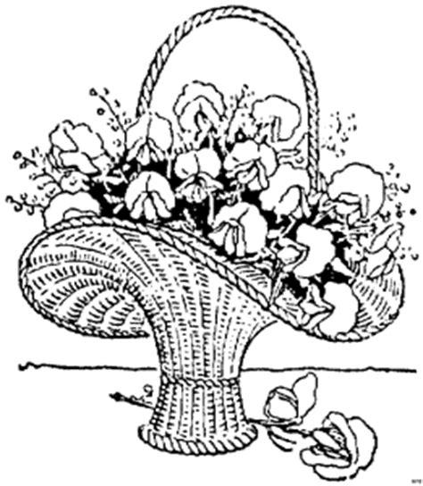korb mit pflanzen ausmalbild malvorlage blumen