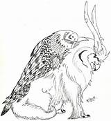 Coloring Gryphon Pages Drawings Line Dragons Designlooter Deviantart 936px 15kb sketch template