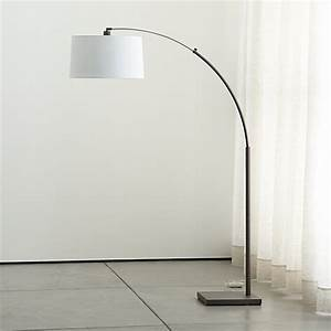 Dexter Arc Floor Lamp With White Shade
