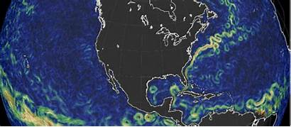 Ocean Currents Map Global Current Different Projections