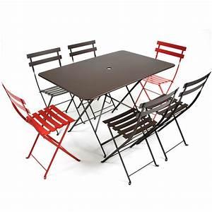 Table Pliante Avec Chaise : table pliante bistro de fermob connox ~ Teatrodelosmanantiales.com Idées de Décoration
