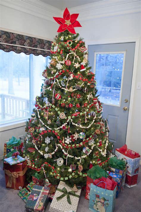 homemade christmas finished 2010 christmas tree