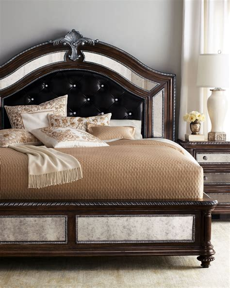 style spotlight leather beds  headboards
