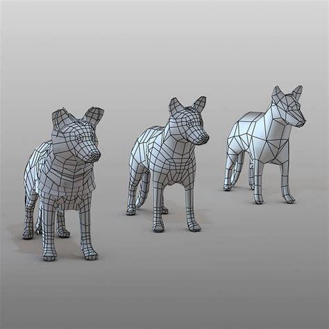 shepherd dog  model animated dogs