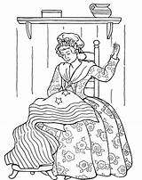 Coloring Ross Betsy Flag Pages Seamstress Template Getcoloringpages Susan Anthony American Popular sketch template