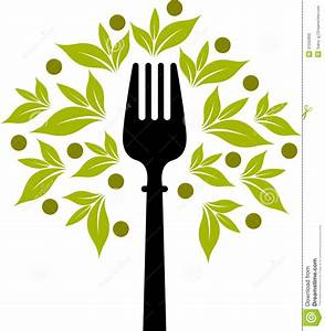Fork Tree Logo Stock Photo - Image: 31032800