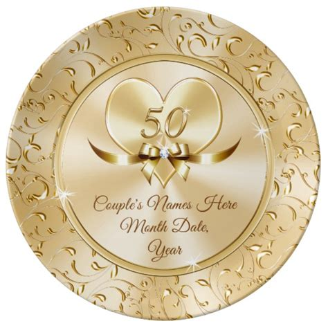 custom   anniversary gifts  couples plate