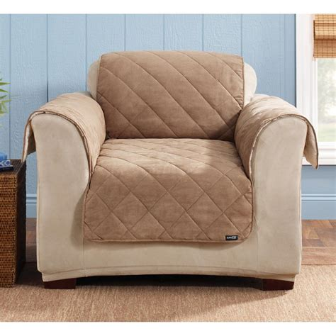 sure fit covers sure fit 174 reversible suede sherpa chair pet cover