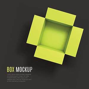 Open Box Mockup Template Top View Stock Illustration