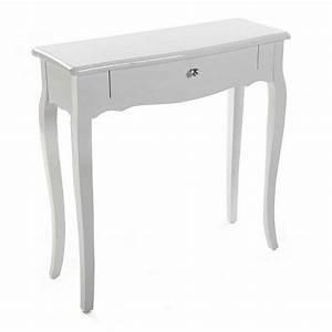 Console D Entrée Blanche : console d entree style classique bois blanc versa ~ Voncanada.com Idées de Décoration