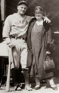 Lou Gehrig and His Mother