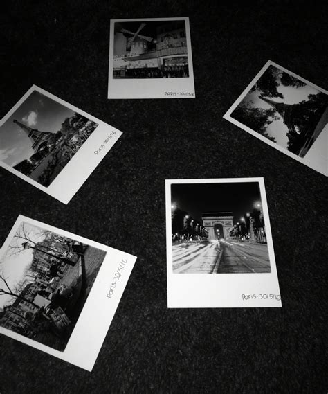 paris polaroids bw wallpapers black white aesthetic