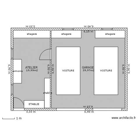 Garage Double Atelier  Plan 2 Pièces 60 M2 Dessiné Par