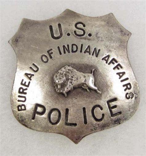 west us bureau of indian affairs cowboy era badge