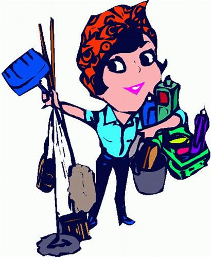 Cleaning Cartoon Lady Clipart Clip Service Cartoons