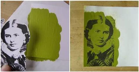 diy photo transfer  acrylic paint