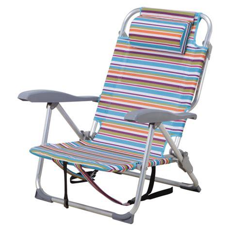 chaise de plage carrefour chaise de plage ajustable à rayures rona