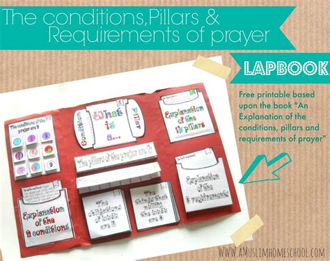 the conditions pillars and requirements of prayer lapbook printable islamic education