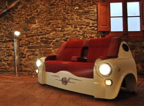 Cars Repurposed As Beds by When Cars Are Repurposed As Furniture And Flower Beds