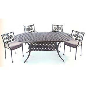 outdoor tables sets 7 pc biscayne bay cast aluminum set