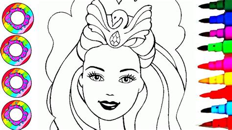 Coloring & Drawing Barbie Princess & Accessories Coloring