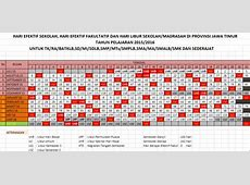Kalender Pendidikan Tahun Pelajaran 20152016 Jawa Timur