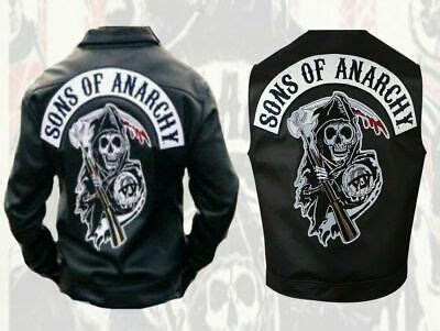sons of anarchy weste soa sons of anarchy biker motorrad logo leder weste jacke