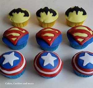 Süsses für kleine Superhelden Superheros Cupcakes