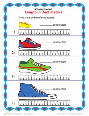 measure a sneaker centimeters worksheet education