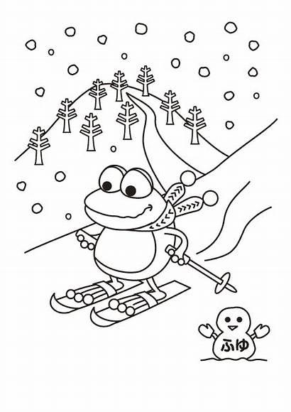 Winter Coloring Season Pages Kleuters Preschool Kleurplaat