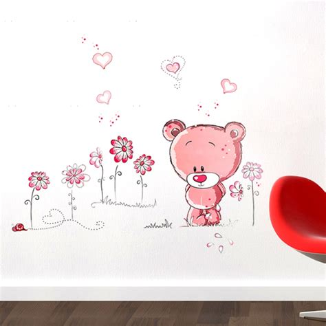 stickers chambre bébé fille aliexpress com buy lovely pink nursery